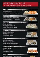 Menu We love sushi - Menu du midi