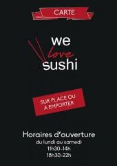 Menu We love sushi - Carte et menu we love sushi Ales