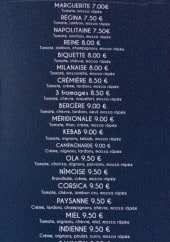 Menu French Truck Nicolas - Pizzas