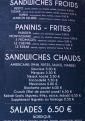 Menu French Truck Nicolas - Sandwiches, paninis, salades,....