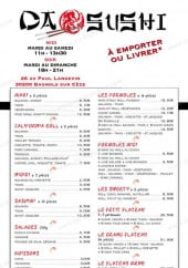 Menu Da Sushi - Les makis, californi rolls,....