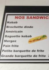 Menu Le space - Sandwiches, formules étudiante, assiettes,...