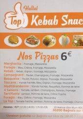 Menu Top Kebab - Carte et menu Top Kebab Bagnols sur Ceze
