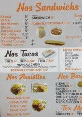 Menu Top Kebab - Sandwichs, burgers, assiettes,....