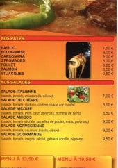 Menu Amigos pizza - Les pâtes, salades et menus