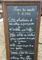 Menu Au Louis IX - Exemple de menu du marché