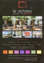 Menu Le Victoria - Information sur le service de restauration
