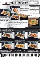 Menu Tsing Tao - Les menus spécialisé et brochettes