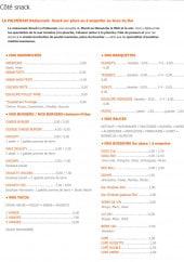 Menu La Palmeraie - Les sandwiches, barquettes, burgers...