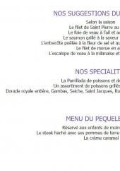 Menu Le Provençal - Les suggestions, spécialités et menu du pequelet