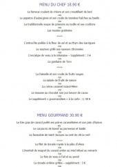 Menu Le Provençal - Le menu du chef et menu gourmand