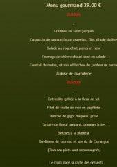 Menu Le Robinson - Le menu Gourmand