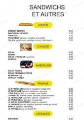 Menu La pause Italienne - Les sandwiches et les autres