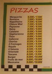 Menu Le Gallia Pizza - Les pizzas et chaussons