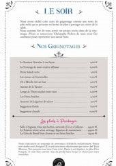 Menu Le Questel - Menus soir, grignotages et plats