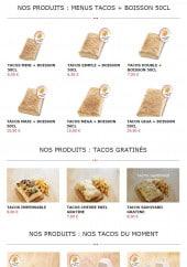 Menu Tacos Avenue - Les menus tacos suite et tacos gratinés