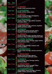 Menu La Toscana Pizza - Les pizzas
