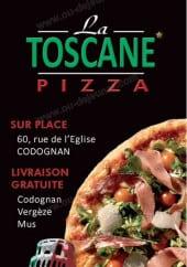 Menu La Toscana Pizza - Carte et menu La Toscana Pizza Codognan