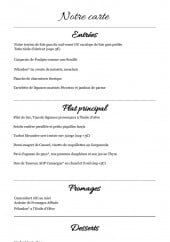 Menu Lou Flambadou - A la carte