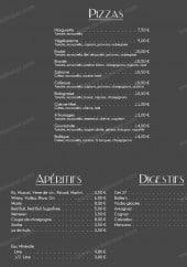 Menu Au Grand Comptoir - Les pizzas, apéritifs et digestifs