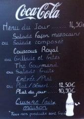 Menu Brasserie Marie - Un extrait de menu du jour