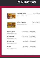 Menu So' Burger - Burgers