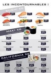 Menu Sushi avenue - Les incontournables