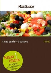 Menu Springtime - Les maxi salades