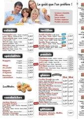 Menu Jack's Express - Les burgers et frites