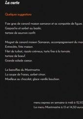 Menu Le Montmartre - Un extrait de la carte et les menus