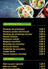 Menu Sa-Tho - Spécialites, nems et salades