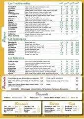 Menu Candelù Pizza - Les pizzas, desserts, boissons,...