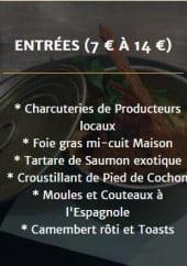 Menu Cozette &  Traditions - Entrées