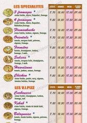 Menu Pizz' Eclair - Les pizzas spécialites: orientale, fermière,...