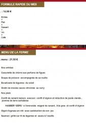 Menu L'Alcôve - La formule midi et menu à 21,5€