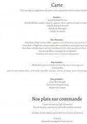 Menu L' Adelino - Les entrées, poissons, viandes,...
