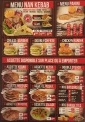 Menu Ankara Gril - Le menu nan kebab, menu panini et assiettes