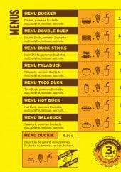 Menu Duck Me - Menus