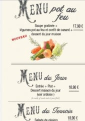 Menu La Table à Jo - les menus