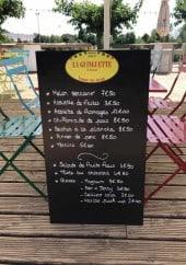 Menu La Guinguette - Exemple de menu