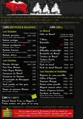 Menu Brasserie du Carré Vert - Les entrées, salades...