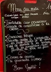 Menu Friendly Auberge - Un exemple de menu du midi