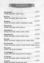Menu L'authentique - Les pizzas
