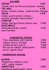 Menu Tu & Yo - Les salades et sandwiches