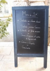Menu Chez Mathieu - Exemple de menu