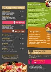 Menu Limoncello - Les pizzas suite, salades, pates et menus