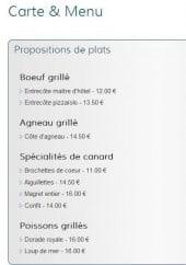 Menu Pizz'Appolinaire - Les propositions de plats