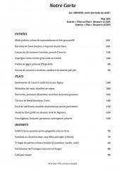 Menu Bistrot de l'imprimerie - Les entrées, plats, desserts et les formules du midi
