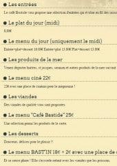 Menu Café Bastide - Les entrées, les viandes, les desserts ...