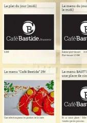 Menu Café Bastide - Les menus